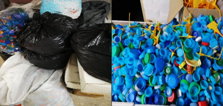 1ère livraison de bouchons plastique en Ile-de-France