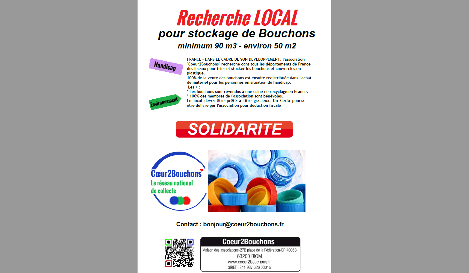 Affiche Local Bouchons