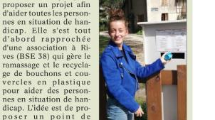 Une jeune fille de 15 ans est à l'initiative d'un point de collecte à Vizille (38)